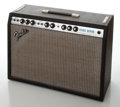Musical Instruments:Amplifiers, PA, & Effects, 1978 Fender Deluxe Reverb Silver Face Guitar Amplifier, Serial #A896342....