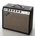 Musical Instruments:Amplifiers, PA, & Effects, 1978 Fender Princeton Reverb Silver Face Guitar Amplifier, Serial # A817244....