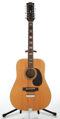 Musical Instruments:Acoustic Guitars, 1970s Crestwood Model 2025 12-String Natural Acoustic Guitar, No Serial Number. ...