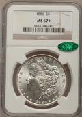 Morgan Dollars, 1886 $1 MS67+ NGC. CAC....