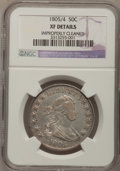 Early Half Dollars, 1805/4 50C --Improperly Cleaned--NGC Details. XF. O-102, R.3....