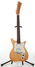 Musical Instruments:Electric Guitars, Late 1960s Gretsch TK300 Natural Electric Guitar, No Visible SerialNumber. ...
