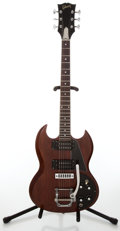 Musical Instruments:Electric Guitars, 1970 Gibson SG Cherry Electric Guitar, Serial # 615271....