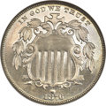 Proof Shield Nickels, 1876 5C PR67 NGC. CAC....