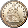 Proof Seated Quarters, 1888 25C PR65+ Deep Cameo PCGS. CAC....