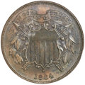 Two Cent Pieces, 1864 2C Small Motto MS65 Brown NGC. FS-401....
