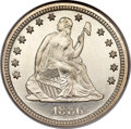 Proof Seated Quarters, 1886 25C PR66 Cameo NGC. CAC....