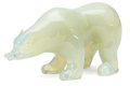Art Glass:Other , THE COLLECTION OF PAUL GREGORY AND JANET GAYNOR. AN OPALESCENTGLASS FIGURE OF A POLAR BEAR. Possibly French, 20th century...