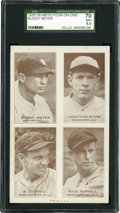 Baseball Cards:Singles (1930-1939), 1938 Exhibits 4 On 1 With W. Ferrell and R. Ferrell SGC 70 EX+5.5....