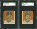 Baseball Cards:Singles (1940-1949), 1949 Bowman Phil Rizzuto, No Name #98 SGC 50 VG/EX 4 Pair (2)....