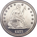 Proof Seated Quarters, 1875 25C PR65 Cameo PCGS. CAC....