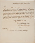 "Autographs:Statesmen, Timothy Pickering Letter Signed as Secretary of State ""TimothyPickering""...."