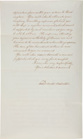 Autographs:Statesmen, Daniel Webster Letter Signed as Secretary of State....