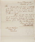 Autographs:Statesmen, Oliver Wolcott Jr. Letter Signed as Secretary of the Treasury....