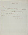 Autographs:Statesmen, Roger B. Taney Autograph Letter Signed as Secretary of the Treasuryto Benjamin Franklin Butler....