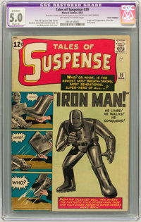 Tales of Suspense #39 (Marvel, 1963) CGC Apparent VG/FN 5.0 Off-white to white pages