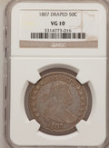 Early Half Dollars: , 1807 50C Draped Bust VG10 NGC. NGC Census: (25/1365). PCGSPopulation (48/974). Mintage: 301,076. Numismedia Wsl. Price for...