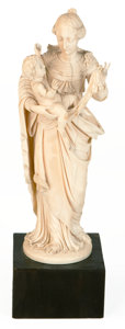 Decorative Arts, Continental:Other , A CONTINENTAL CARVED IVORY FIGURE . Probably Dieppe, France, early19th century. Unmarked. 9-1/2 inches high (24.1 cm). ...