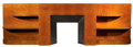 Furniture : French, A BURL ELM VENEERED MANTLE . La Maison Desny, Paris, France,1930-1933. Marks: Mantle stamped lower left: DESNY PARIS, MAD...(Total: 3 Items)