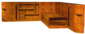 Furniture : French, A BURL ELM VENEERED SOFA AND BOOKCASE . La Maison Desny, Paris,France, 1930-1933. Marks: Hardware stamped: DESNY PARIS, M...(Total: 5 Items)