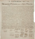 "Miscellaneous:Broadside, William J. Stone for Peter Force: The Declaration of Independence.Single oversized sheet, 25.5"" x 28.75"", ..."