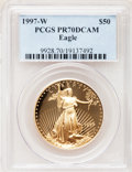 Modern Bullion Coins: , 1997-W G$50 One-Ounce Gold Eagle PR70 Deep Cameo PCGS. PCGSPopulation (122). NGC Census: (411). Numismedia Wsl. Price for...