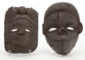 Other, The Collection of Paul Gregory and Janet Gaynor. TWO AFRICAN MASKS FROM THE COLLECTION OF ADRIAN. Early to mid 20th ce... (Total: 2 Items)