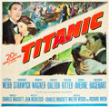 "Movie Posters:Drama, Titanic (20th Century Fox, 1953). Six Sheet (81"" X 81"").. ..."