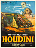 "Movie Posters:Miscellaneous, Houdini ""Buried Alive"" (Otis Litho, 1926). Eight Sheet (106"" X 81"").. ..."