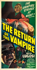 "Movie Posters:Horror, The Return of the Vampire (Columbia, 1943). Three Sheet (41"" X81"").. ..."