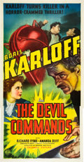 "Movie Posters:Horror, The Devil Commands (Columbia, 1941). Three Sheet (41"" X 81"").. ..."