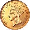 Three Dollar Gold Pieces, 1885 $3 MS61 Prooflike NGC....