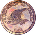 Patterns, 1858 P1C Flying Eagle Cent, Judd-202, Pollock-245, R.5, PR64NGC....