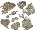 Political:Presidential Relics, George Washington: Fragments of Embossed Decorations From HisOriginal Coffin, As Shown.... (Total: 17 Items)