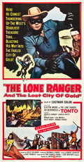 "Movie Posters:Western, The Lone Ranger and the Lost City of Gold (United Artists, 1958). Three Sheet (41"" X 81"").. ..."