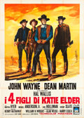 "Movie Posters:Western, The Sons of Katie Elder (Paramount, 1965). Italian 4 - Foglio (55""X 78"").. ..."