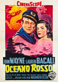 "Movie Posters:Action, Blood Alley (Warner Brothers, 1956). Italian 4 - Foglio (55"" X78"").. ..."