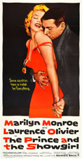 """Movie Posters:Romance, The Prince and the Showgirl (Warner Brothers, 1957). Three Sheet(41"""" X 81"""").. ..."""
