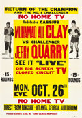 "Movie Posters:Sports, Ali vs. Quarry Fight Poster (Sports Action, Inc., 1970). Poster (40"" X 57"").. ..."