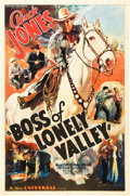 "Movie Posters:Western, Boss of Lonely Valley (Universal, 1937). One Sheet (27"" X 41"")....."