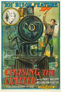 "Movie Posters:Thriller, Chasing the Limited (Universal, 1915). One Sheet (27"" X 41"").. ..."