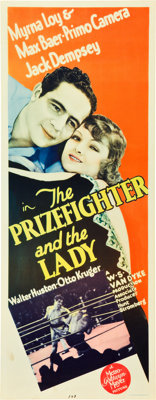 """The Prizefighter and the Lady (MGM, 1933). Insert (14"""" X 36"""")"""