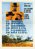 "Movie Posters:Western, The Good, the Bad and the Ugly (PEA, R-1968). Italian 4 - Foglio (55"" X 78"").. ..."