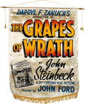 "Movie Posters:Drama, The Grapes of Wrath (20th Century Fox, 1940). Silk Banner (37"" X 52"").. ..."