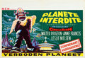 "Movie Posters:Science Fiction, Forbidden Planet (MGM, 1956). Belgian Poster (15"" X 22"").Horizontal Style. ..."