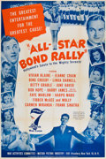 """Movie Posters:War, All-Star Bond Rally (War Activities Committee, 1945). Poster (40"""" X60"""").. ..."""