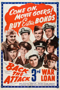 """Movie Posters:War, Back the Attack (War Activities Committee, 1943). Poster (40"""" X60"""").. ..."""