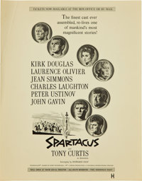 "Spartacus (Universal International, 1960). Promotional Ad Proofs (5) (11"" X 14""). ... (Total: 5 Items)"
