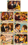 "Movie Posters:Romance, San Francisco (MGM, 1936). Title Lobby Card and Lobby Cards (6)(11"" X 14"").. ... (Total: 7 Items)"