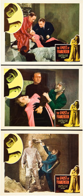 "The Ghost of Frankenstein (Realart, R-1948). Lobby Cards (3) (11"" X 14""). ... (Total: 3 Items)"
